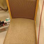椅子の背もたれ生地剥がれの補修