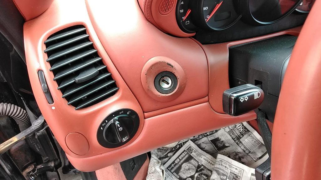 ポルシェ 911カレラ シートと内装の色剥がれ補修