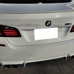 BMW M5 センターコンソールの焦げ穴補修