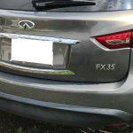 インフィニティ FX35 ステアリングの色剥がれ補修