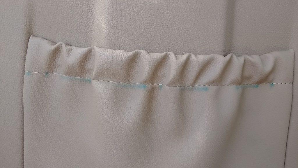 ポルシェ パナメーラ シート(背中側)の色移り補修