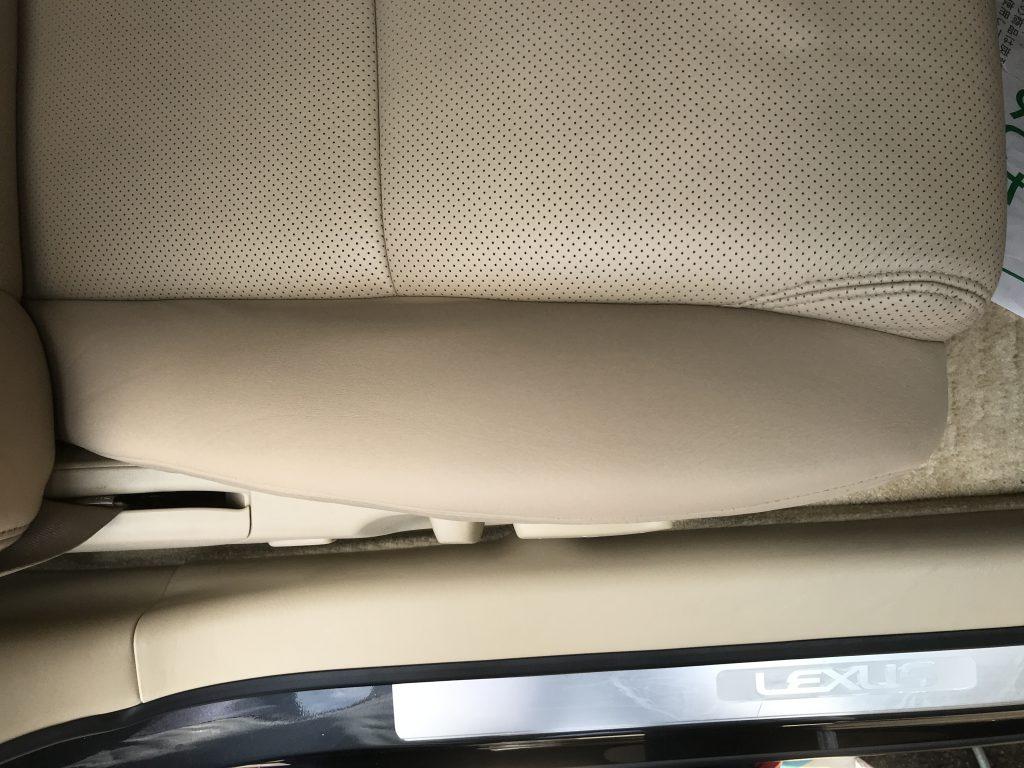 レクサス GS460 シートの色剥がれ補修