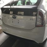 トヨタ プリウス ハーフレザーシートの色剥がれ補修