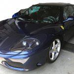 フェラーリ F360モデナ フロントデフロスターのベタツキ補修