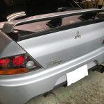三菱 ランサーエボリューション ダッシュボードの傷補修