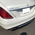 AMG S63 ダッシュボードの生地剥がれ補修