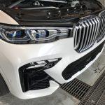 BMW X7 リアセンターアームレストの擦り切れ補修