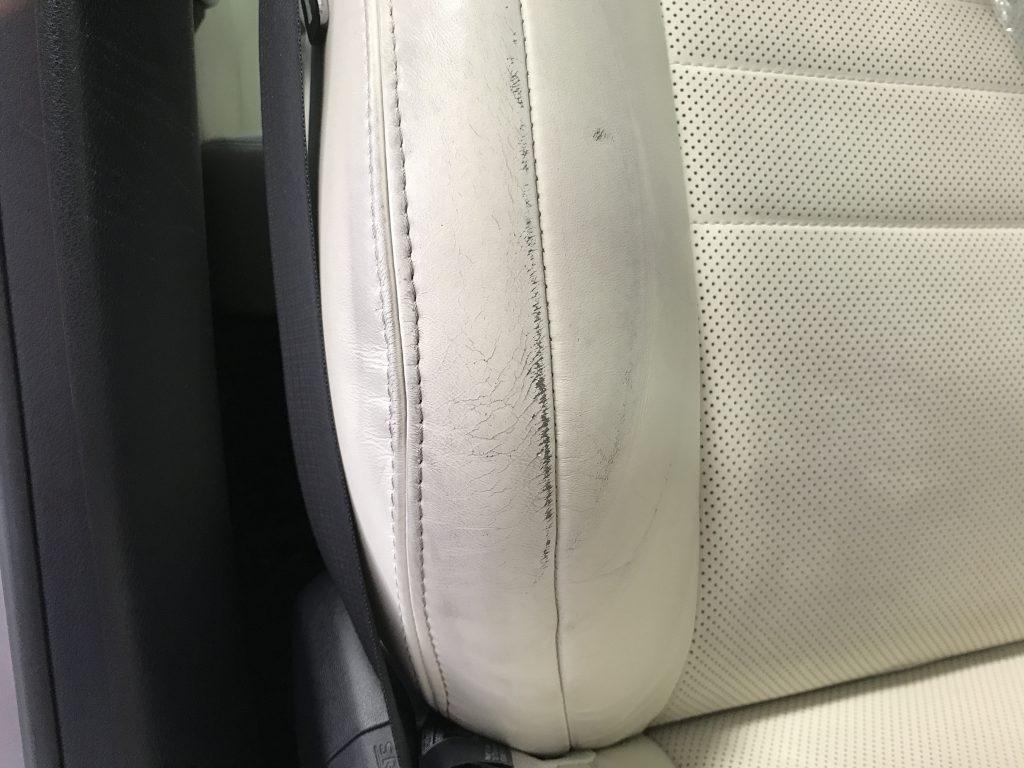 レクサス GS300h 本革シートの色剥がれ補修