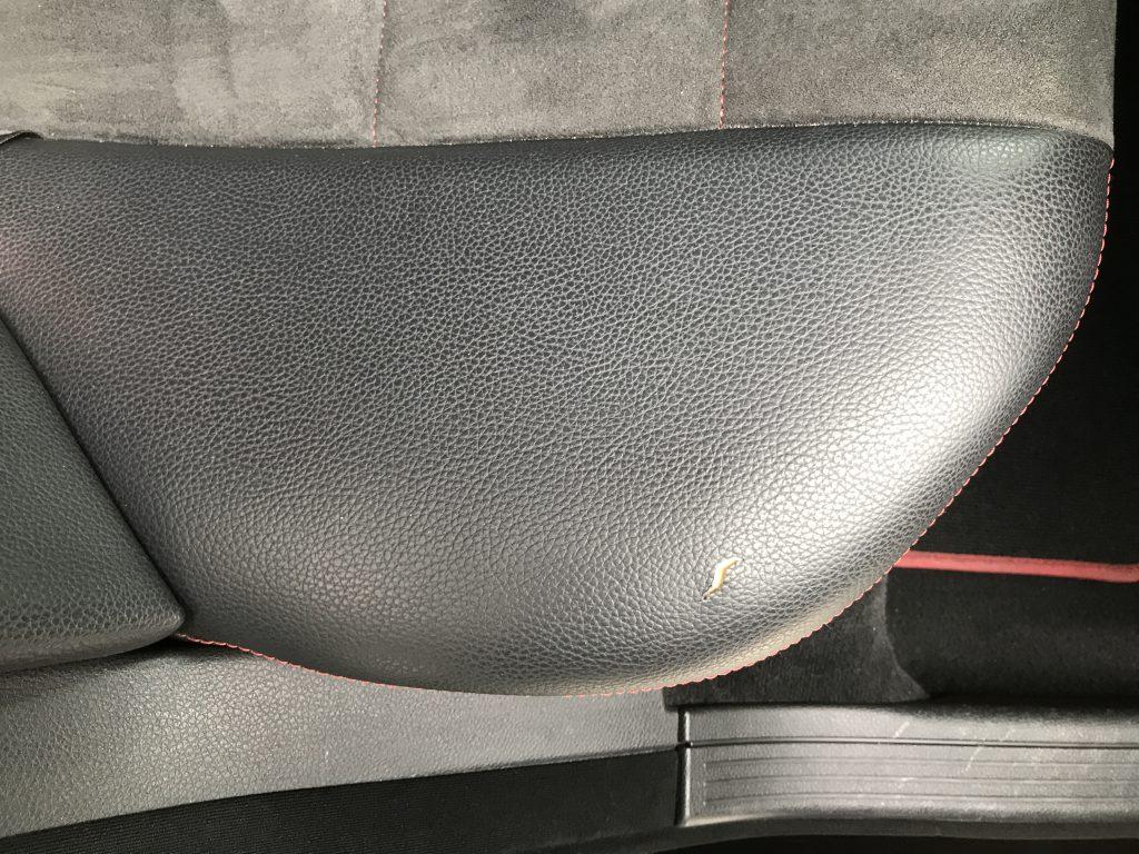 メルセデスベンツ C200 レザーシートの破れ補修