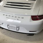 ポルシェ 911カレラS スカッフプレートの擦り傷補修