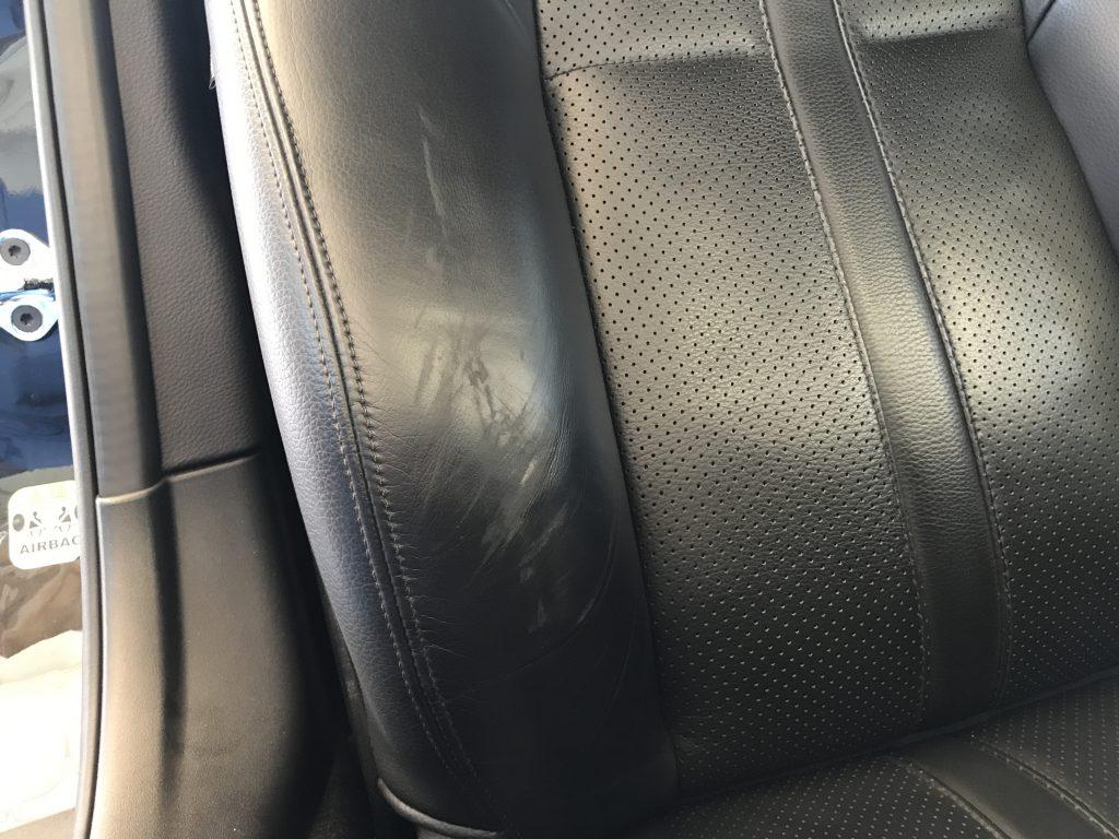 ジャガー XK 本革シートの擦り傷補修