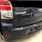 トヨタ スペード シートの焦げ穴補修