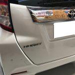 トヨタ ルーミー シートの焦げ穴補修