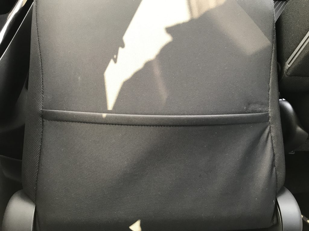 スズキ ワゴンR シート背面ポケットの破れ補修