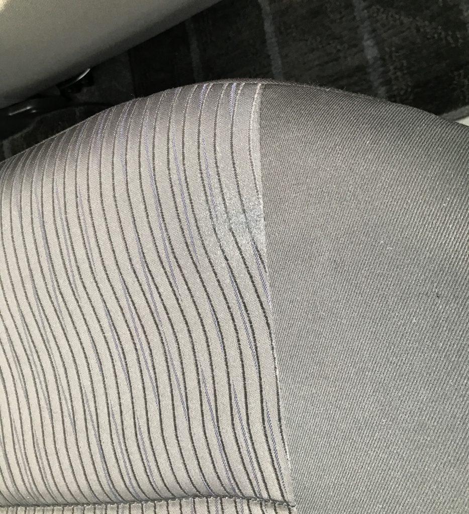 スズキ スイフト シートの焦げ痕補修