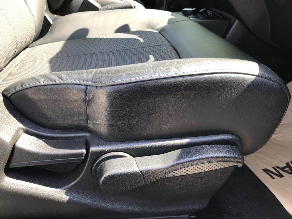 日産 エクストレイル レザーシートの破れ補修