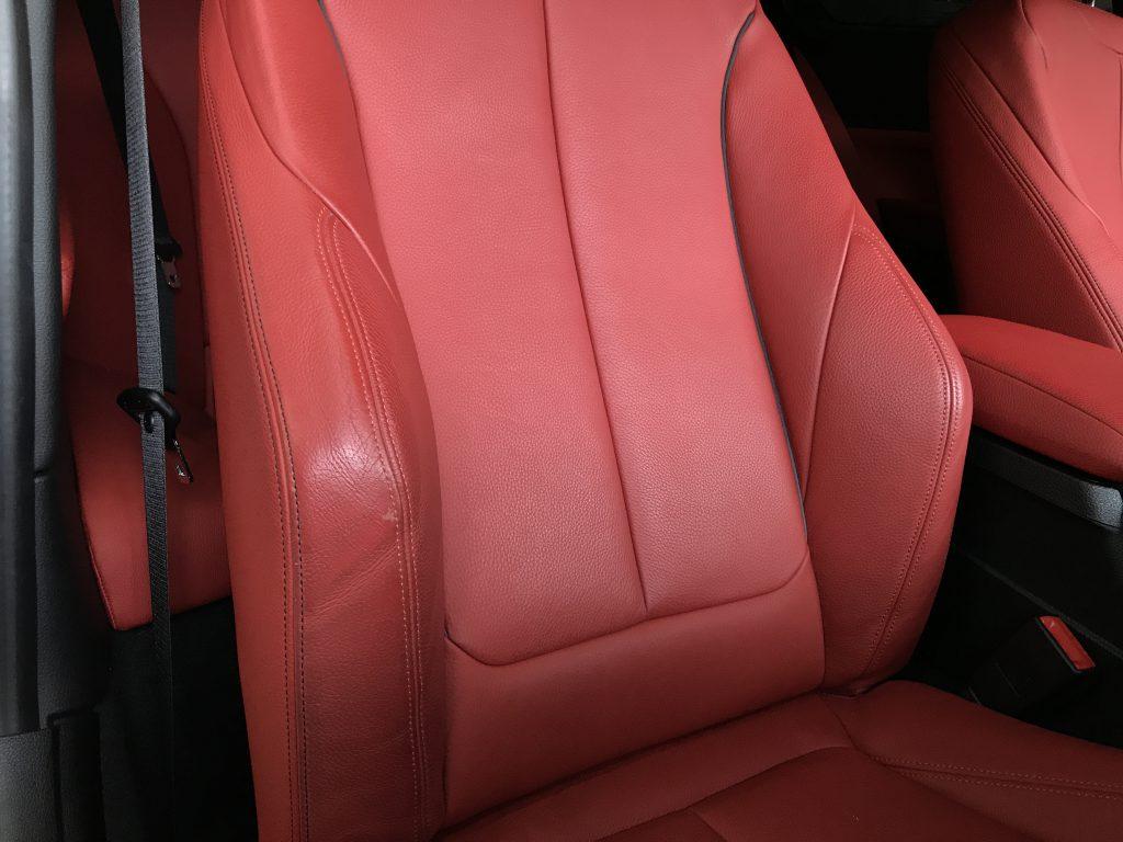 BMW 235i シートの色剥がれ補修とクリーニング