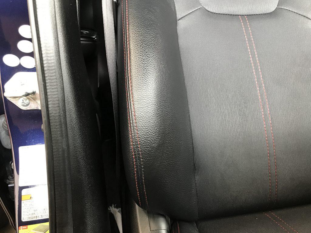 スバル インプレッサ レザーシートの破れ補修