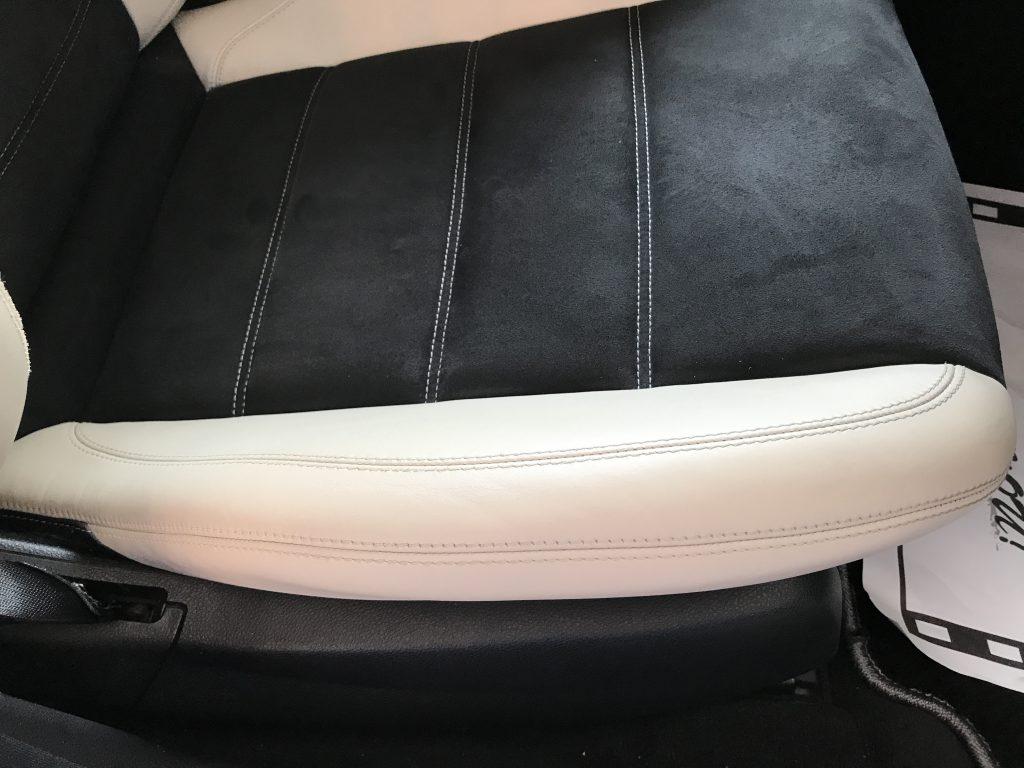 AMG C63 レザーシートのひび補修