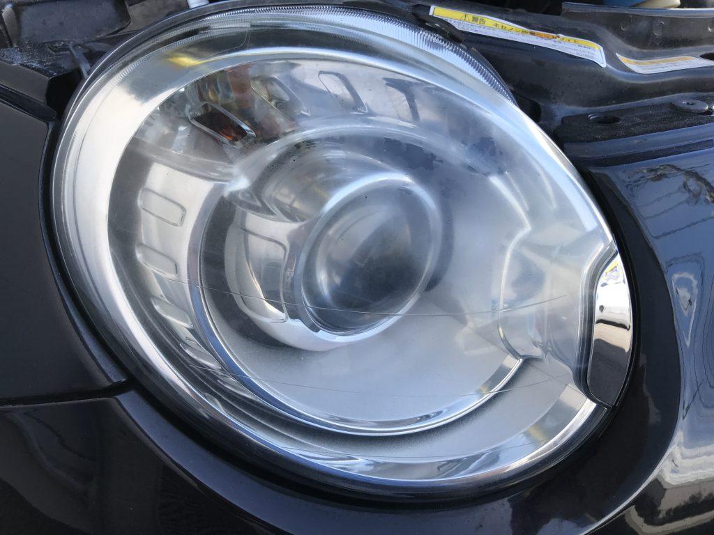 フィアット 500 ヘッドライトのクリーニング
