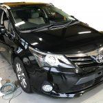 トヨタ アヴェンシス レザーシート座面側面の破れ補修