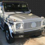 メルセデスベンツ G500 グローブボックス内生地の補修