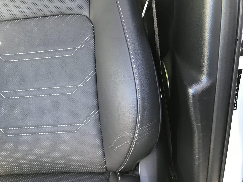 レクサス NX300h レザーシートの擦り傷補修