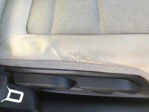 BMW i3 レザーシートの色剥がれ補修