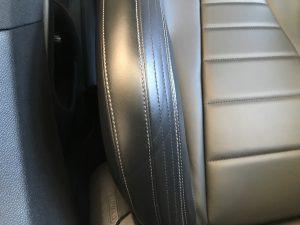 メルセデスベンツ E250 本革シートの色剥がれ補修