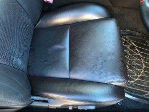 レクサス GS350 本革シートの皺、色抜け補修