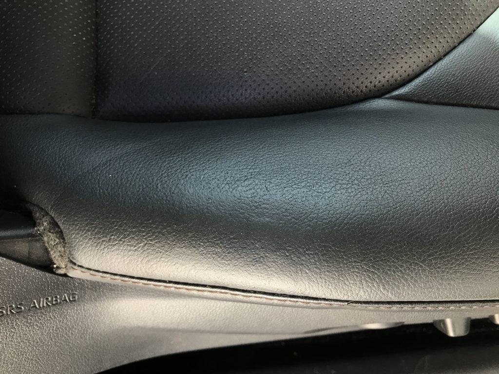 トヨタ カムリ レザーシートの破れ補修