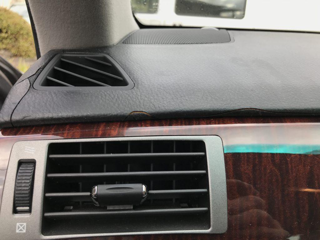 トヨタ クラウンマジェスタ ダッシュボードのひび割れ補修