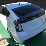 トヨタ プリウス アルカンタラ調生地シートの焦げ穴補修