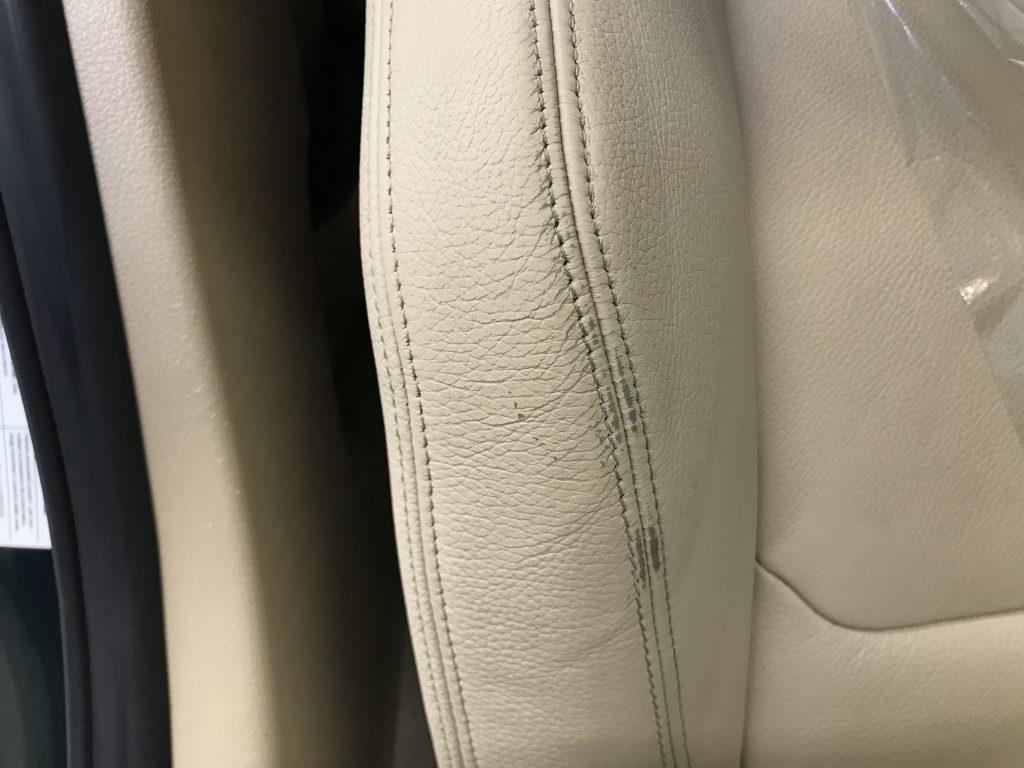 アルピナ B3 本革シートの色剥がれ補修