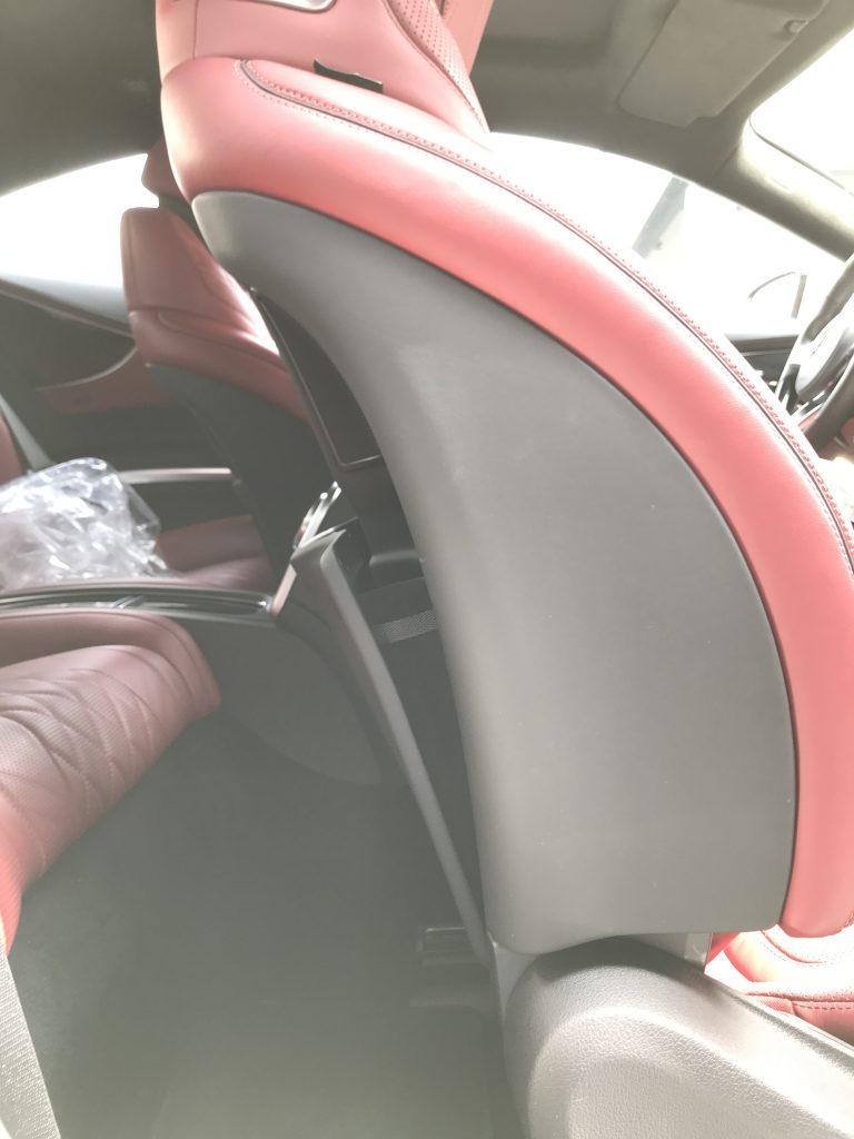 メルセデスベンツ S550 シート背面ポケットの補修