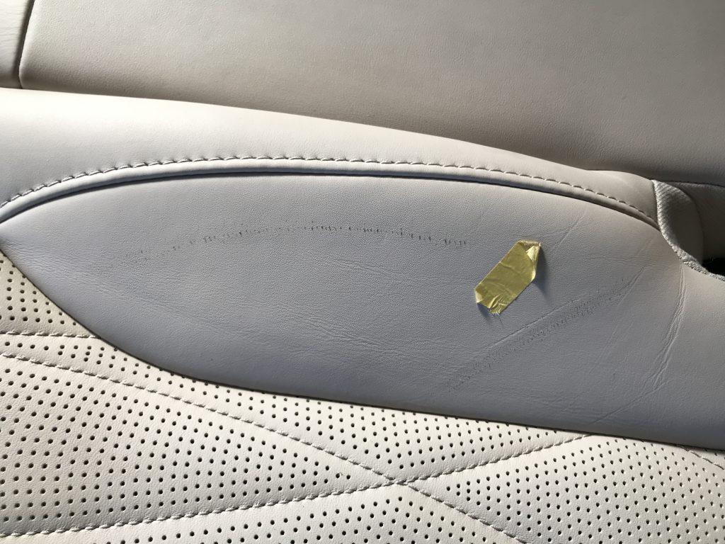 AMG G63 本革シートの擦り傷補修