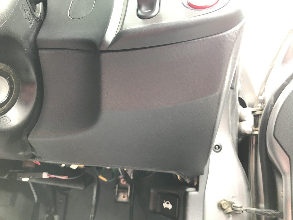 ホンダ S2000 インパネの両面テープ糊残り補修