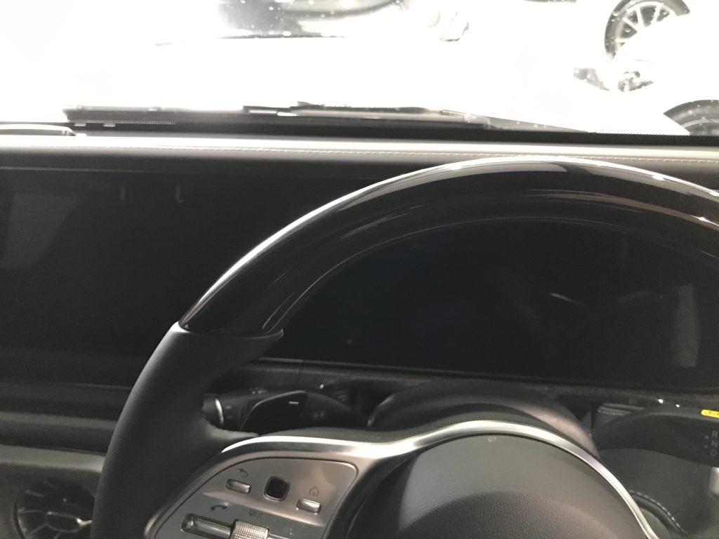 メルセデスベンツ G400d ウッドステアリングの傷(クリア部)補修